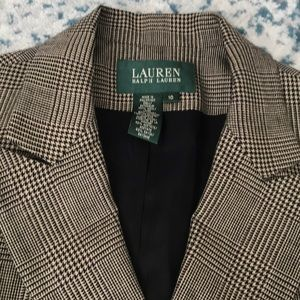 Lauren plaid double breasted blazer. NWT